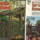 FENCES & GATE GRADEN CONSTRUCTION KNOW HOW LOT OF 2 BOOKS