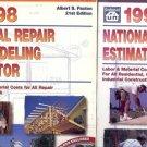 NATIONAL REPAIR y REMODELING ESTIMATOR A LOT OF 2 BOOKS