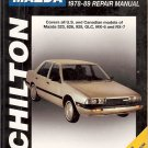 CHILTON MAZDA 323 626 929 GLC MX 6 RX 7 1978-89 REPAIR MANUAL