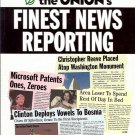 FINEST NEWS REPORTING THE ONION'S VOLUME ONE BY SCOTT DIKKERS & ROBERT SIEGEL
