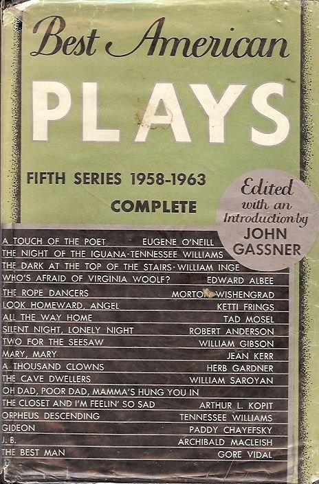 BEST AMERICAN PLAYS 5TH SERIES 1958-1963 BY JOHN GASSNER  1963