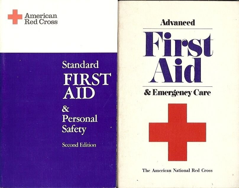 STANDARD FIRST AID & FIRST AID & EMERGENCY CARE A LOT OF 2 BOOKS