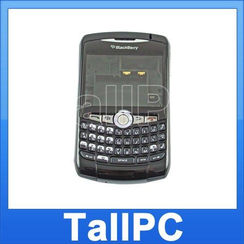 For BlackBerry Curve  8310 Full Housing Cover US Black