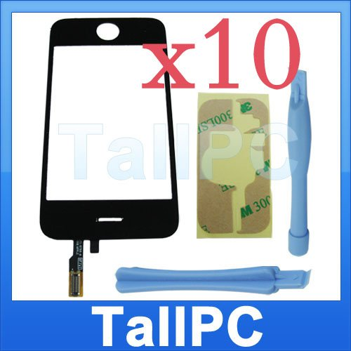 x10 Iphone 3GS Digitizer touch Screen + adhesive 2 tool