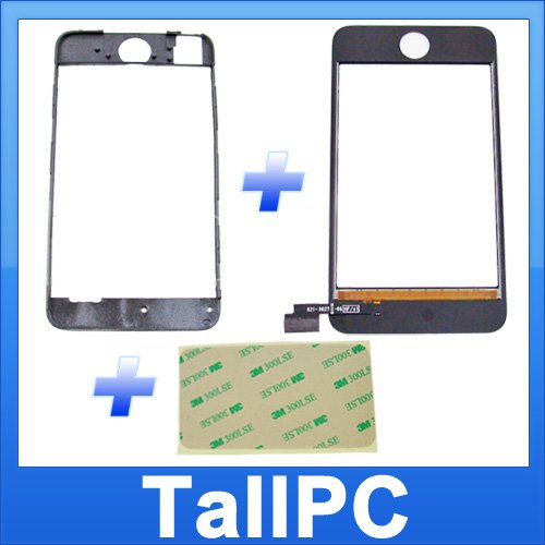 Ipod Touch 2nd Digitizer + Mid Frame Chassis + Adhesive