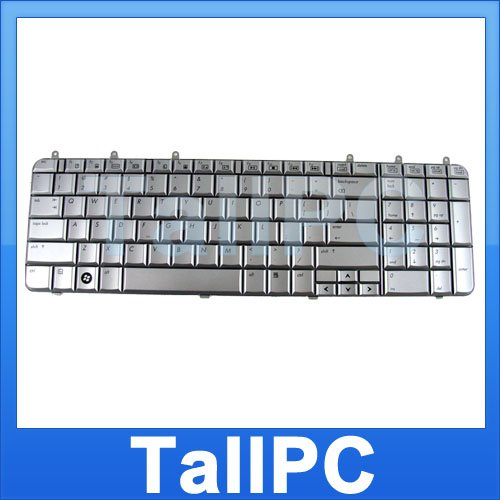 NEW HP DV7 keyboard HP DV7 Silver w/ Six screws US