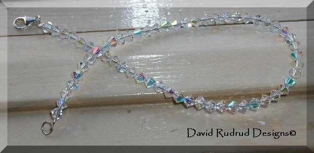 CLEAR CRYSTAL ANKLE BRACELET anklet Swarovski Crystal