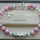 BOUTIQUE ZTA ZETA TAU ALPHA CUSTOM SORORITY BRACELET Sterling Silver