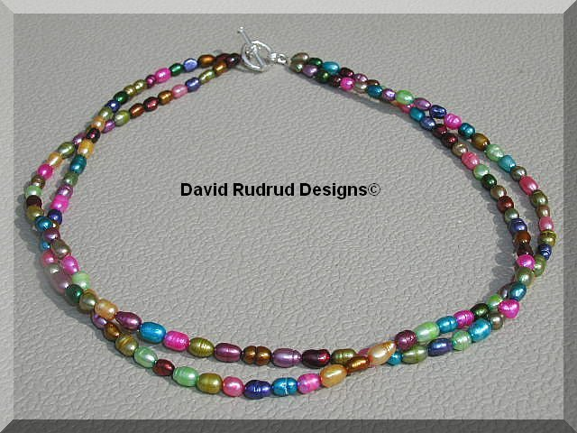 BOUTIQUE 2 STRAND MULTICOLOR FRESHWATER PEARL NECKLACE pearls