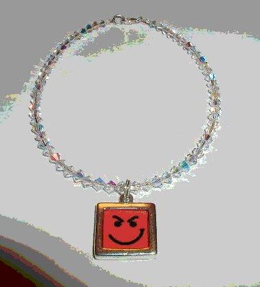 Have A Nice Day Bon Jovi Swarovski Crystal Ankle Bracelet Anklet