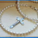 1st  First Communion Swarovski Crystal Pearl Necklace & Bracelet Jewelry Set
