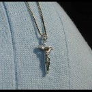 16 Inch Sterling Silver Crucifix Necklace Gift Jewelry 1st First Communion
