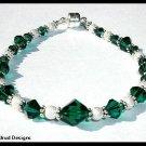WOW!  Birthstone Bracelet Gift Jewelry Swarovski and Sterling