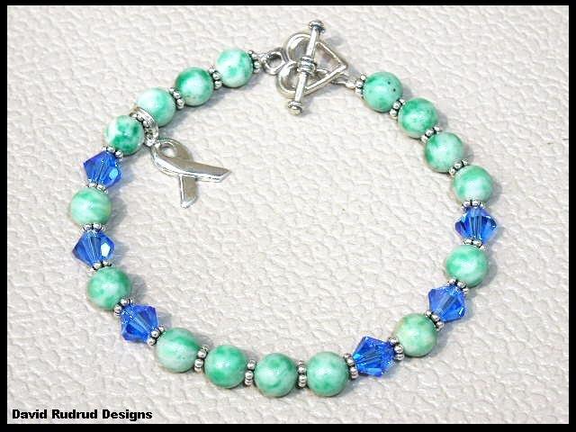Down Syndrome Awareness Bracelet Gemstone and Swarovski Crystal