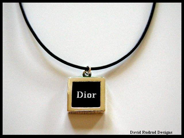 Custom Designer DIOR Necklace Leather and Sterling