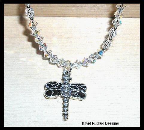 DRAGONFLY & Crystal Ankle Bracelet Anklet Swarovski