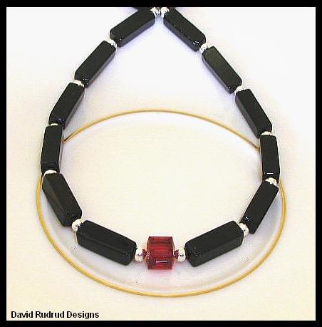 Birthstone Necklace 18 Inches Elegant Polished Black Onyx Swarovski