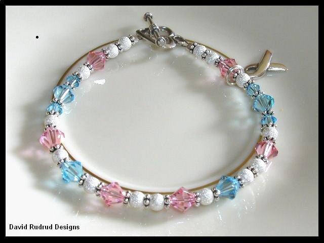 SIDS Sudden Infant Death Syndrome Bracelet Crystal Sterling