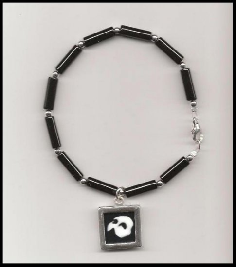 Phantom of the Opera Charm Bracelet Sterling Black Onyx