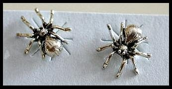 Solid Sterling Silver SPIDER Post earrings