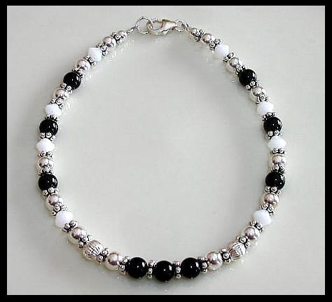 Custom Crystal Gemstone and Sterling Silver Bracelet