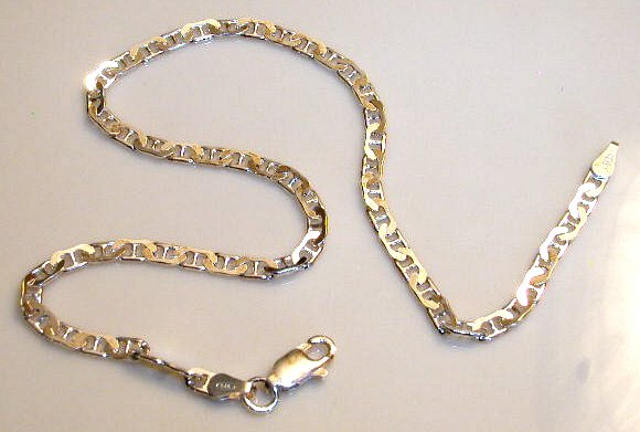 Solid Sterling Silver loop ANKLE bracelet anklet 10 inches