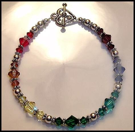 Boutique CHAKRA Bracelet with Swarovski Crystal Sterling Silver