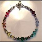 Boutique CHAKRA Bracelet with Swarovski Crystal Sterling Silver