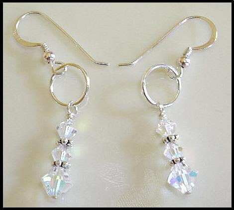 New SWAROVSKI CLEAR AB Crystal Drop Earrings