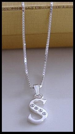 16 Inch Sterling Silver Initial Necklace jewelry