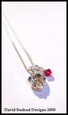 Worldwide Shipping - Original TWILIGHT BELLA'S CHARM NECKLACE Jewelry 16 in. Sterling & Swarovski