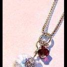 FREE Shipping - Original TWILIGHT BELLA'S CHARM NECKLACE Jewelry 16 in. Sterling & Swarovski