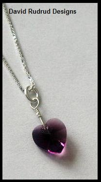 """BIRTHSTONE 1 Heart Mom Mothers 18"""" Necklace Sterling Silver"""