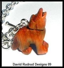 TWILIGHT Inspired Bella's Charm Bracelet w/ Hand-Carved Wolf