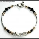 ADAM LAMBERT Tribute Name Bracelet - Swarovski and Sterling