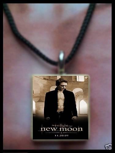 TWILIGHT New Moon Necklace - Scrabble Tile Pendant