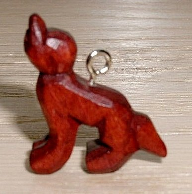 Hand Carved Twilight Inspired Wood Wolf Charm