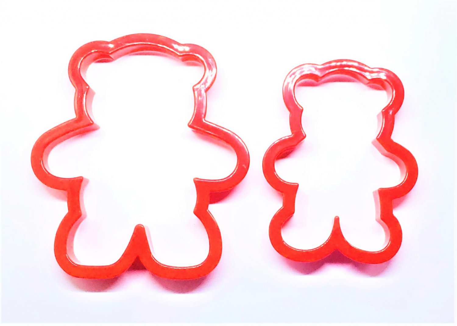 SALE Set of 2 Teddy Bear Animal Plastic Wilton Cookie Cutters