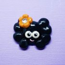 CLEARANCE Spider with Orange Flower - Cold Porcelain Clay Center - Halloween