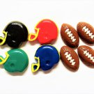 CLEARANCE Helmet & Football Cold Porcelain Clay Centers Set of 8