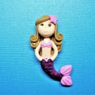 CLEARANCE Cold Porcelain Little Mermaid Figurine - DIY Jewelry, Accessories