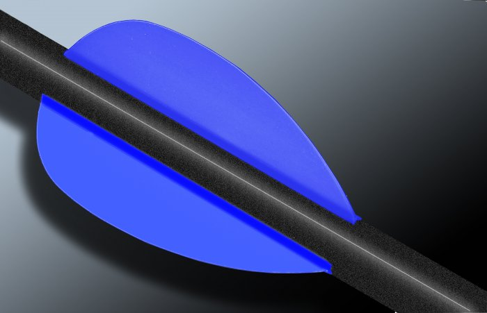 Flo Blue Flash Vanes - hunting flex fletch archery vanes arrows fletching