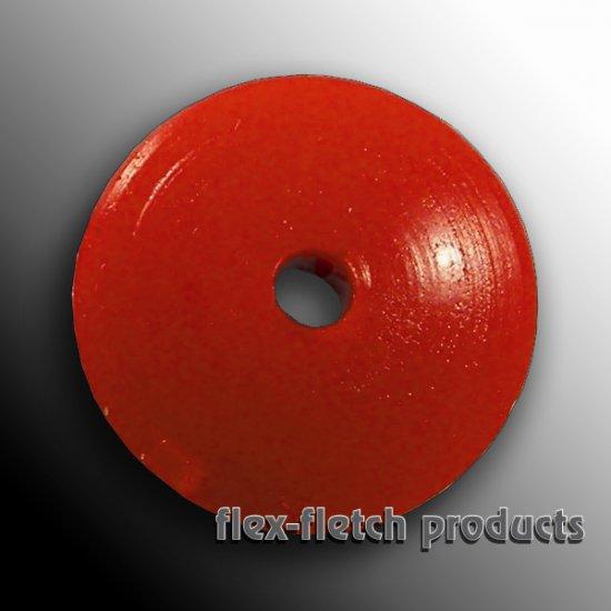 Flex-Fletch - Soft Kisser Button, Blaze Orange, Large 1.4 cm