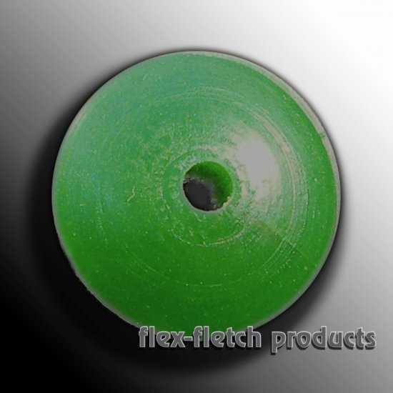 Flex-Fletch - Soft Kisser Button, Fl-Green, Large 1.4 cm
