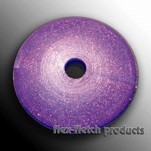Flex-Fletch - Soft Kisser Button, Purple, Large 1.4 cm