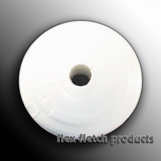 Flex-Fletch - Soft Kisser Button, White, Large 1.4 cm