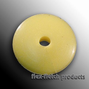 Flex-Fletch - Soft Kisser Button, Fl-Yellow, Large 1.4 cm