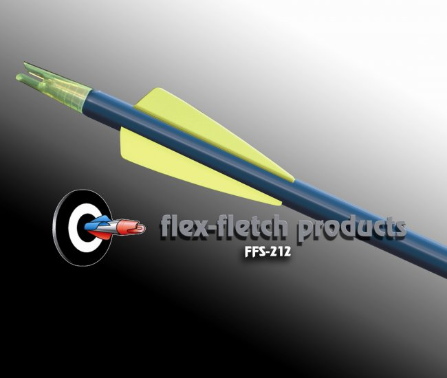 Flo-Yellow FFS-212 Flex-Fletch Premium vanes archery vanes target archery hunting flex fletch