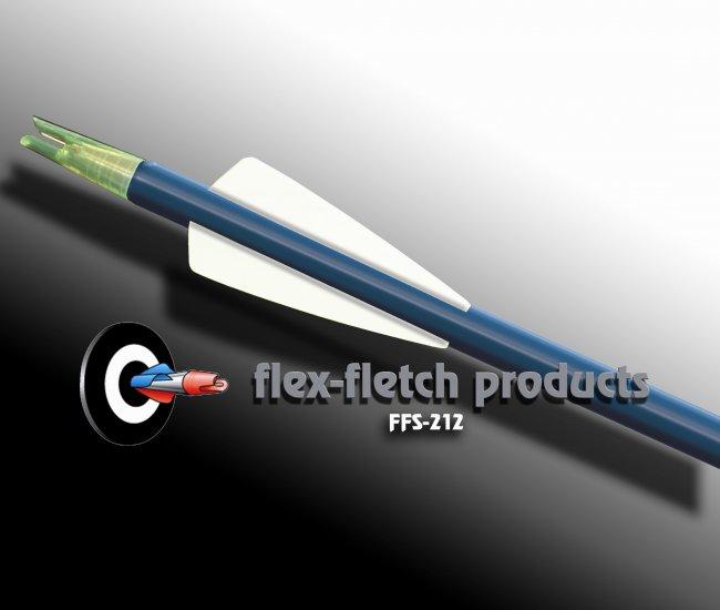 White FFS-212 Flex-Fletch Premium vanes archery vanes target archery hunting flex fletch