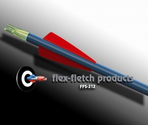 Red FFS-212 Flex-Fletch Premium vanes archery vanes target archery hunting flex fletch